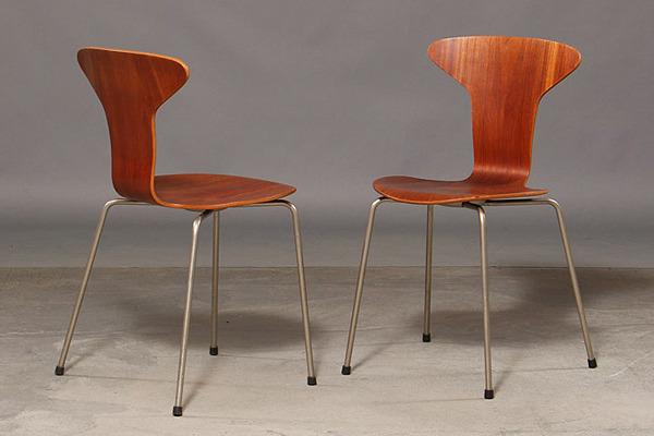 Arne Jacobsen. Four teak chairs, 'Mosquito', model 3105-02.jpg