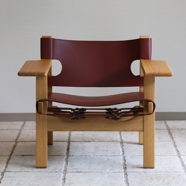 Borge Mogensen  Spanish Chair - Deep Red (9).jpg