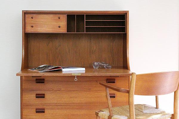 Borge Mogensen  Writing desk .teak  Soborg Mobler (10).jpg