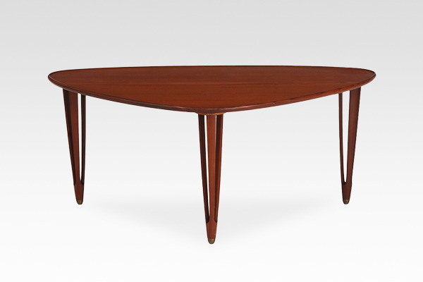 Danish vintage  Triangular shaped coffee table  BC Furniture (1).jpg