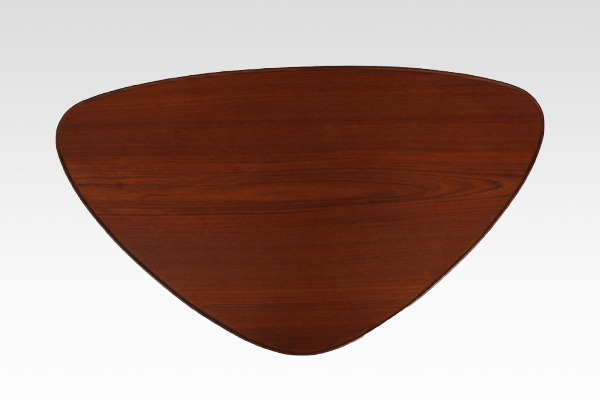 Danish vintage  Triangular shaped coffee table  BC Furniture (2).jpg