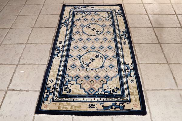 ヴィンテージラグ  アンティーク絨毯J-887 (2).jpg