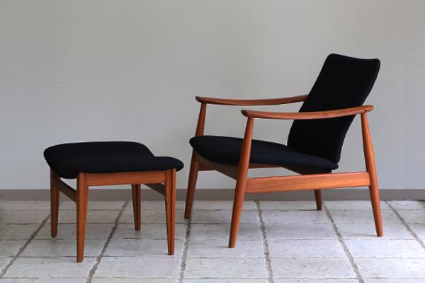 Finn Juhl  Easy chair. FD-138  & ottoman France and son (23).jpg