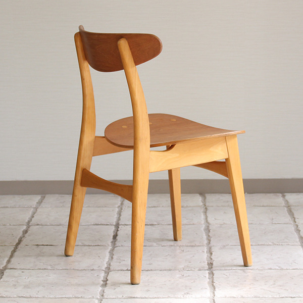 Hans J. Wegner  Dining chair. CH-30 Teak & Oak  Carl Hansen & Son(板座) (4).jpg