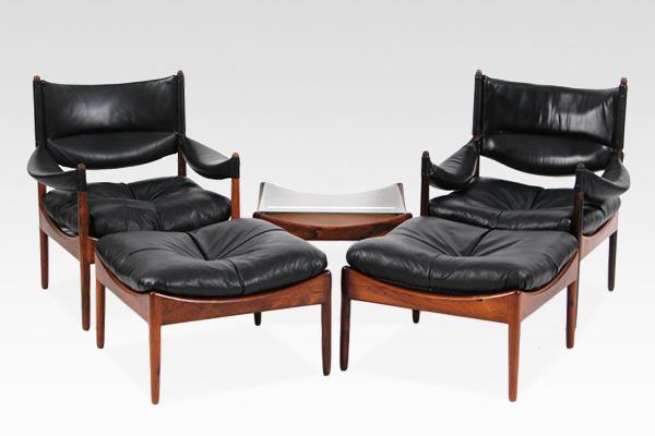 Kristian Vedel  Side chair & ottoman, sidetable  Soren Willadsen.jpg