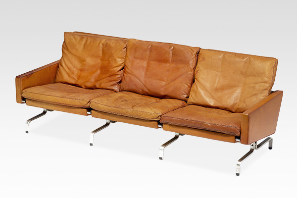 Poul Kjaerholm   Three seater sofa. PK-31  E. Kold Christensen.jpg