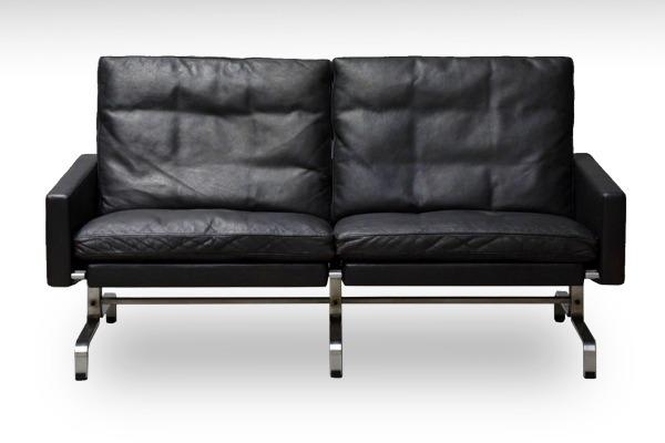 Poul Kjaerholm   Two seater sofa. PK-31  E. Kold Christensen-02.jpg