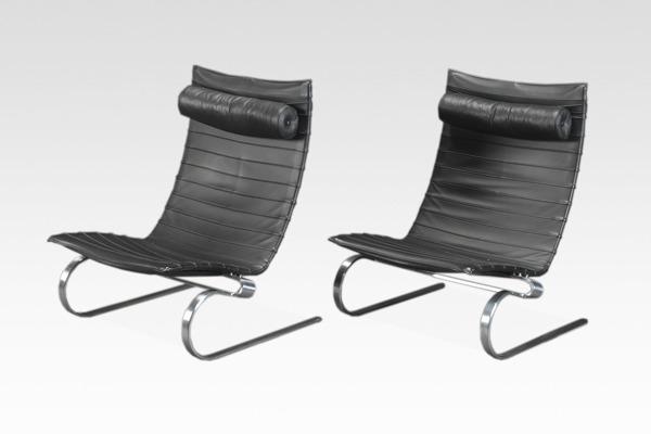 Poul Kjaerholm  Lounge chair. PK20  Fritz Hansen (2).jpg