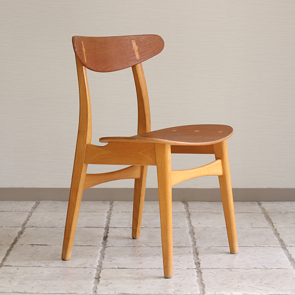 Hans J. Wegner  Dining chair. CH-30 Teak & Oak  Carl Hansen & Son(板座) (2).jpg