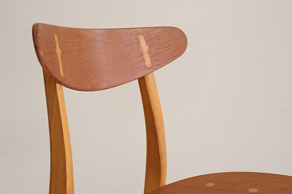 Hans J. Wegner  Dining chair. CH-30 Teak & Oak  Carl Hansen & Son(板座) (6).jpg