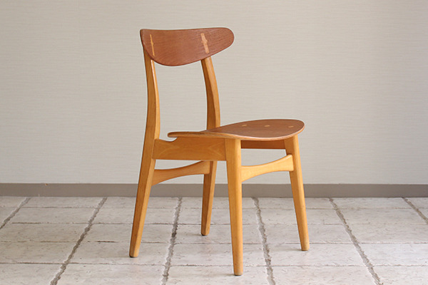 Hans J. Wegner  Dining chair. CH-30 Teak & Oak  Carl Hansen & Son(板座) (9).jpg