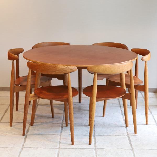 Hans Wegner  Heart Dining Set  Fritz Hansen (5).jpg