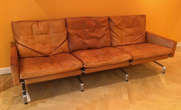 Poul Kjaerholm   Three seater sofa. PK-31  E. Kold Christensen  (1).jpg